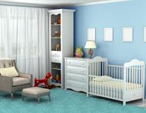 装饰挂画与靠墙的家具高清图片