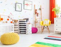 精心布置的儿童房内景高清图片