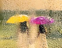 雨后玻璃水雾特效背景PS动作