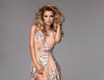 性感亮片裙装美女人物高清图片