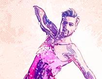 时尚人物插画手绘艺术效果PS动作
