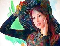 油漆人像和涂抹背景特效PS动作