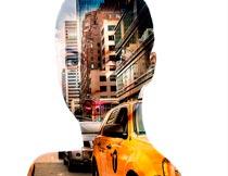 人像和城市双重曝光PS中文动作