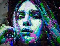人像添加绚丽立体油漆特效PS动作