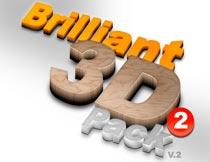 各种纹理质感的3D立体字PS动作