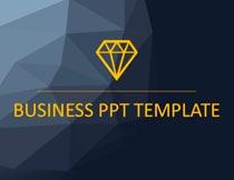 欧美低多边形主题风格PPT模板