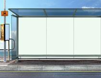 公交站台广告灯箱展示高清图片