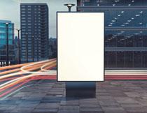 城市建筑交通与广告牌高清图片