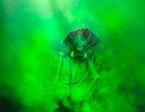 绿色辐射光线污染特效PS动作