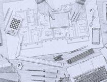 建筑手绘草图效果PS动作