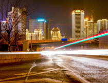 城市建筑群长曝光摄影高清图片