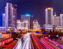 绚丽繁华城市夜景摄影高清图片