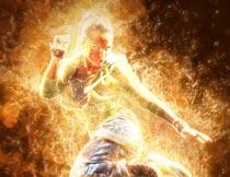 数码照片被火焰燃烧效果PS动作