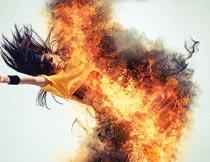 人像被火焰火苗燃烧特效PS动作