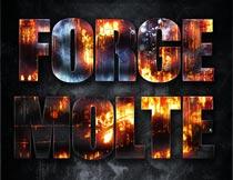 火焰燃烧主题艺术字设计PS样式V1