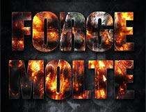 火焰燃烧主题艺术字设计PS样式V3