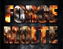 火焰燃烧主题艺术字设计PS样式V4