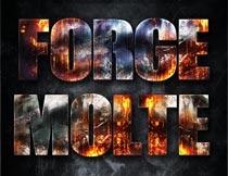 火焰燃烧主题艺术字设计PS样式V5