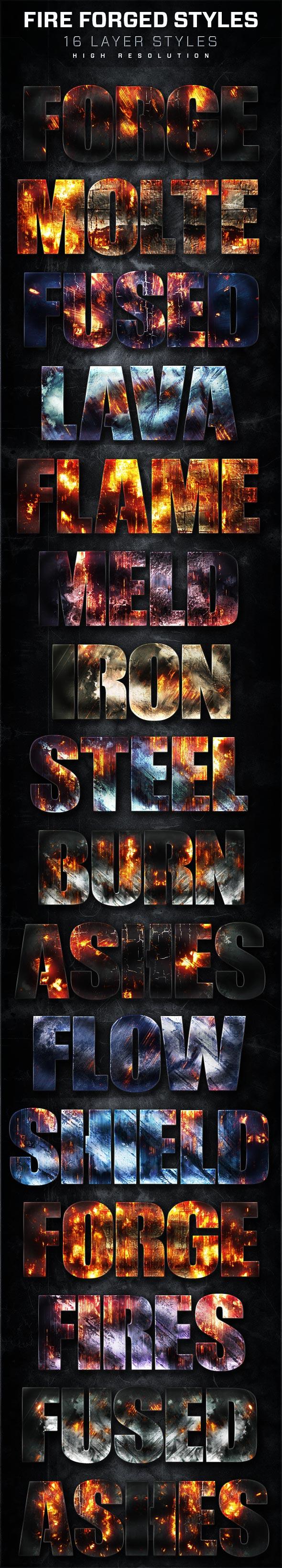 火焰燃烧主题艺术字设计PS样式V6