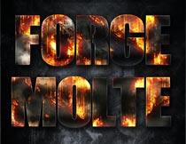 火焰燃烧主题艺术字设计PS样式V7
