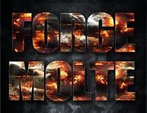 火焰燃烧主题艺术字设计PS样式V8