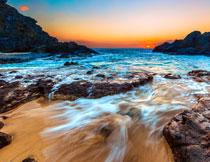 海上日出自然风景摄影高清图片