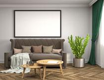 沙发茶几与室内挂饰画高清图片