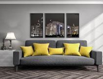 客厅装饰画与沙发家具高清图片