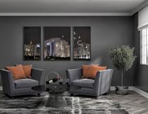 客厅装饰画与家具陈设高清图片