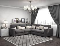 简约风格房间家具摆放高清图片
