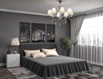 卧室房间家具摆设摄影高清图片