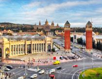 西班牙的巴塞罗那风光高清图片