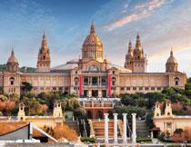巴塞罗那的国家博物馆高清图片
