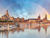德累斯顿的易北河摄影高清图片