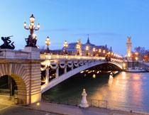 巴黎的亚历山大三世桥高清图片