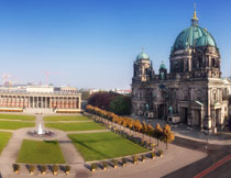柏林博物馆岛全景鸟瞰高清图片