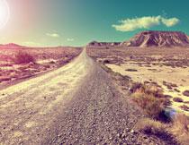 白云下的荒漠风光摄影高清图片