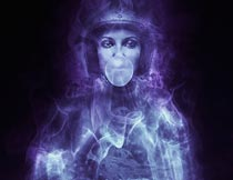 创意的人像烟雾装饰PS动作