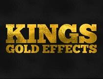 金币质感的黄金艺术字PSD模板