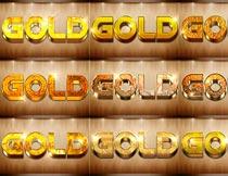 40款各种黄金质感3D立体字PS样式