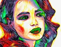 印象派抽象绘画艺术效果PS动作
