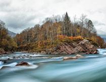 秋日山水自然风光摄影高清图片