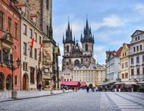 捷克的布拉格广场风光摄影图片
