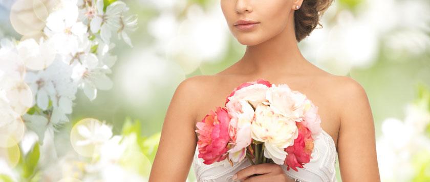 拿花束的新娘人物摄影高清图片