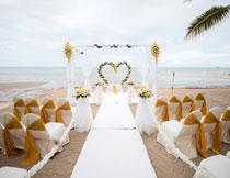 海边沙滩婚庆场景布置高清图片