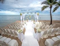 布置好的婚礼现场摄影高清图片