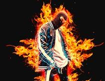超酷的火焰燃烧效果PS动作