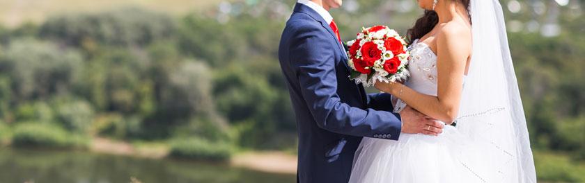 婚礼现场新娘新郎摄影高清图片