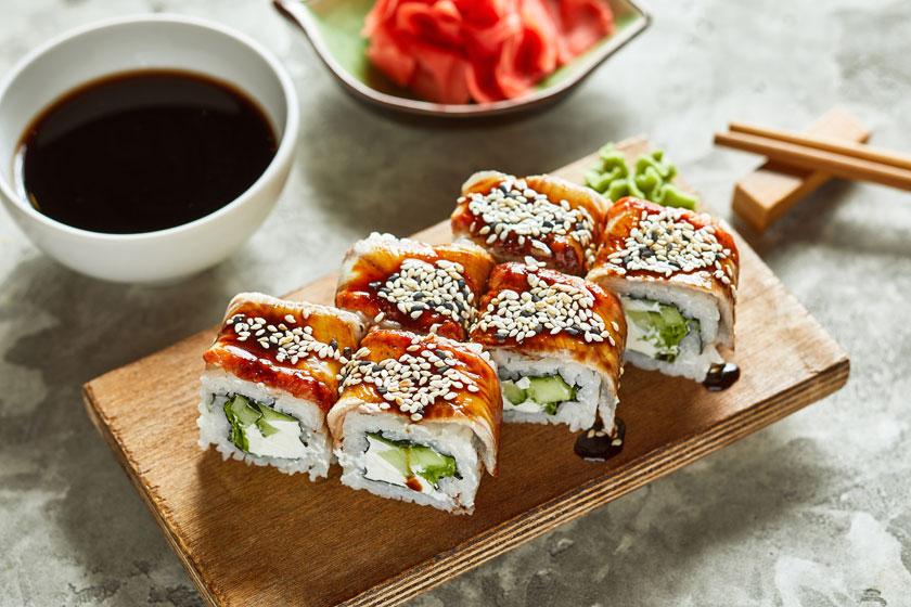 新鲜美味寿司料理摄影高清图片