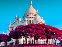 风景照片紫红色效果PS中文动作